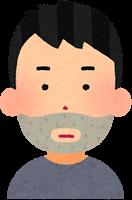 青髭の男性のイメージ