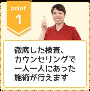 選ばれるポイント1